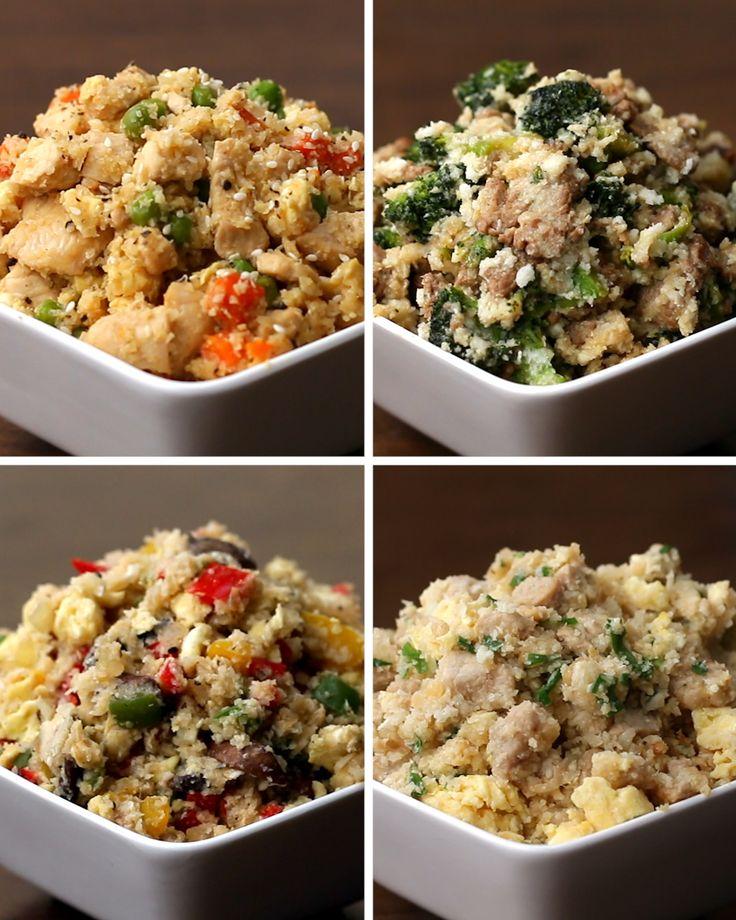 """Cauliflower """"Fried Rice"""" 4 Ways"""