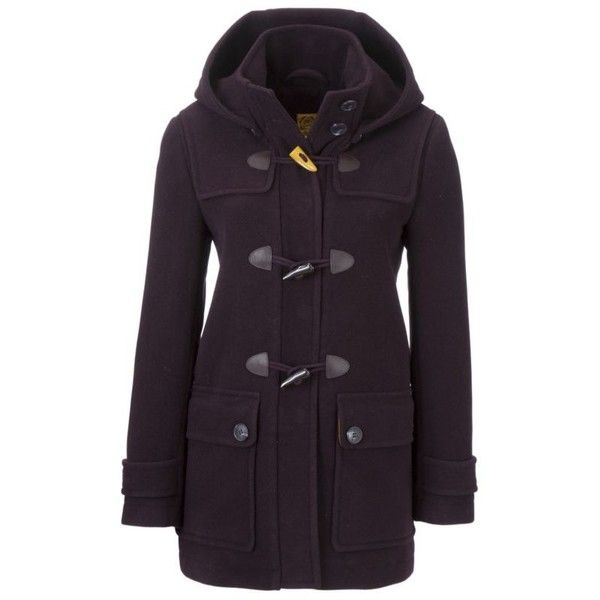 Joules Hooded Duffle Coat, Purple Rain (3.295 UYU) ❤ liked on Polyvore featuring outerwear, coats, women's jackets & coats, duffle coat, purple coats, hooded coat, hooded duffle coats and joules coats