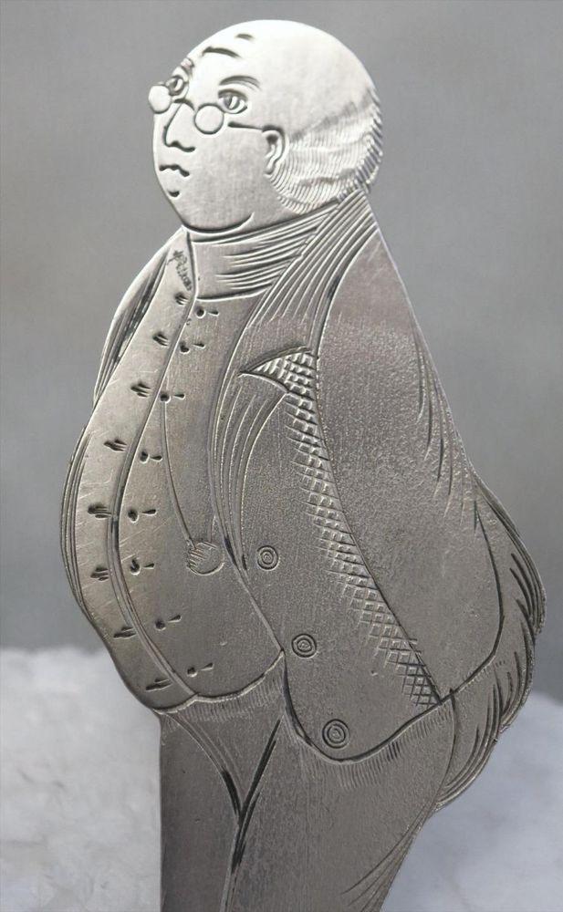 Antique J F Fradley Sterling Silver Figural Bookmark Charles Dickens Mr Pickwick | Bookmarks ...