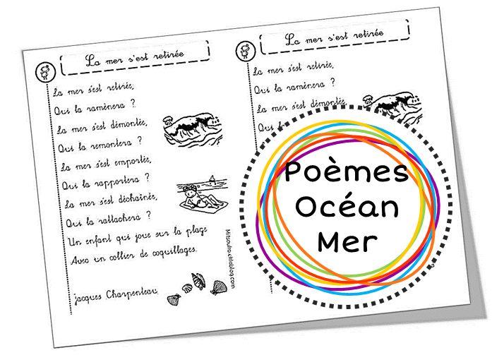Dossier sur l'océan, le bord de mer, les coquillages et les bateaux : suggestions d'albums, de chansons, de poèmes, d'activités, et présentation d'oeuvre d'art ...
