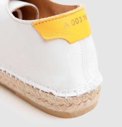 Asdal White / Yellow Act Series #espadrilles #handmade #spain #footwear # alpargatas