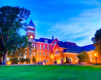 Evening falls over Tillman Hall. Picture available from the Clemson Photo Store on ClemsonTigers.com