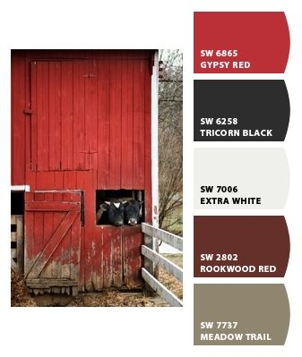 Maybe a red dining room?  Hall and living could be the lighter shades! Paint colors