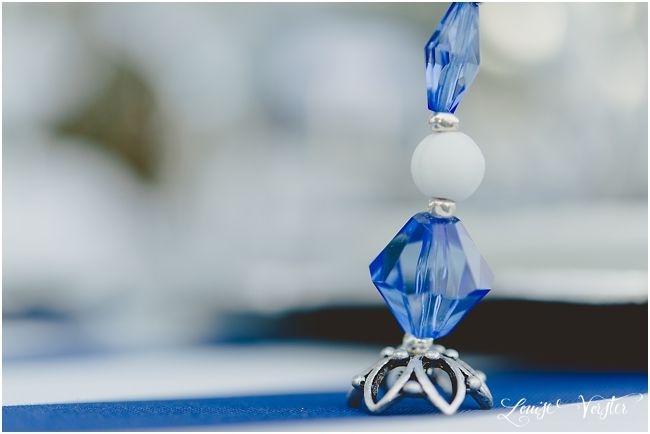 Beaded place card holder