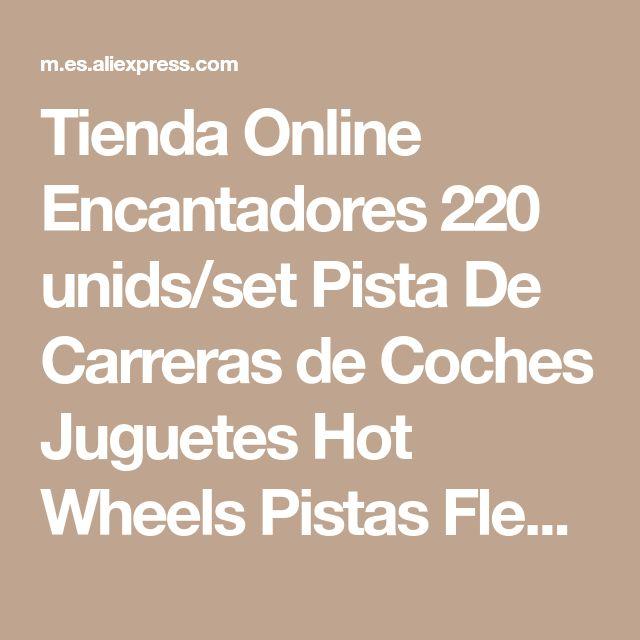 Tienda Online Encantadores 220 unids/set Pista De Carreras de Coches Juguetes Hot Wheels Pistas Flexibles Con Led Tren De Coches Auto de Juguete Para Niños para niños   Aliexpress móvil