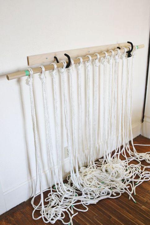 como hacer cortinas de macrame paso a paso