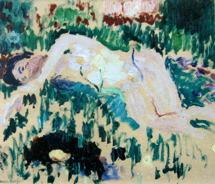 Henri Matisse (French, Fauvism, 1869-1954). 1906, The lying nude