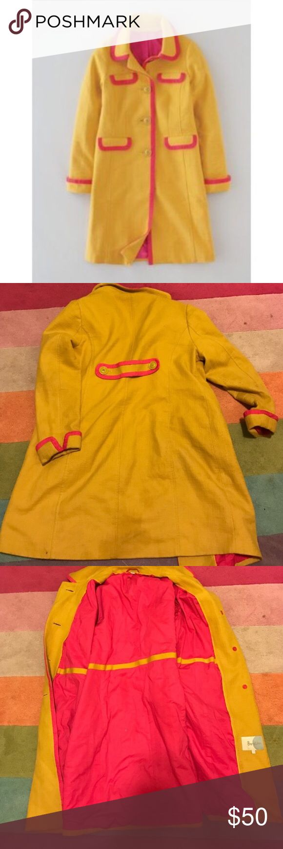 Boden pink tipped coat Boden pink tipped coat . Recently dry cleaned. Boden Jackets & Coats