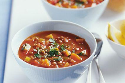 Brown lentil and vegetable soup | Manna Health