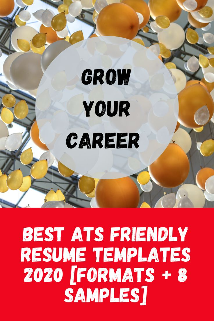 Best ats friendly resume templates 2020 formats 8