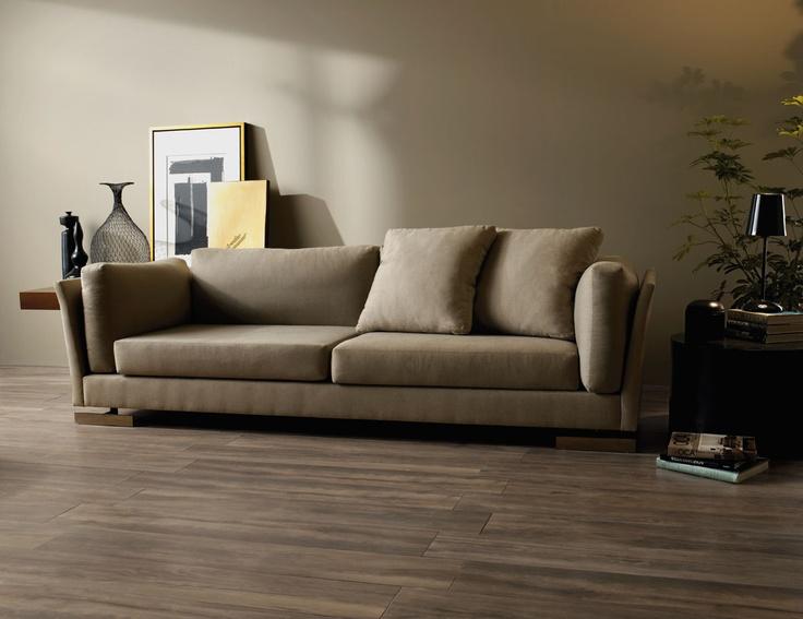 Piso porcelanato imitaci n perfecta de la madera for Sala de estar beige