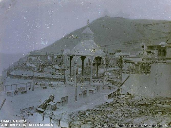 Chorrillos luego de los desmanes de la soldadesca chilena. 1881