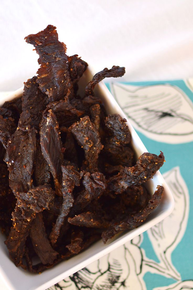 Beef Jerky - left out the liquid smoke since I'm using a smoker not a dehydrator.  Doubled the brown sugar and reduced the black pepper for hubby's tastes.  Set smoker at 165 degrees and smoke for 6 to 12 hours until jerky is dry.  It is done when it feels dry and when you bend it, it will split but not break.