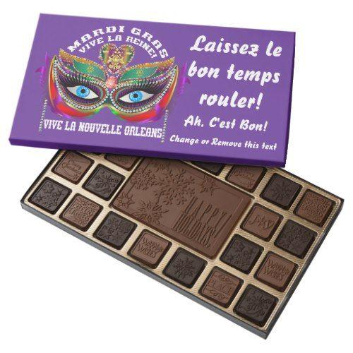 Mardi Gras Queen Chocolate Assortment & Bars