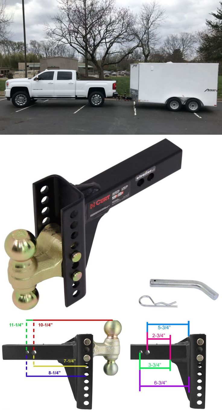 Adjustable ball mount will easily level to any of your trailers - boat, utility or enclosed.