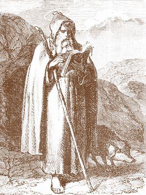 San Antonio Abad estampa de un flos sanctorum
