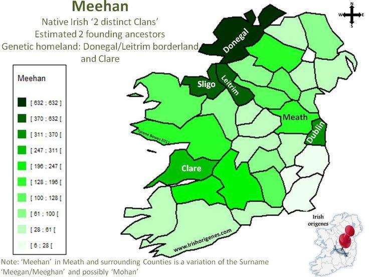 Meehan | Irish Origenes: Use Family Tree DNA to Discover Your Genetic Origins | Clans of Ireland | Irish Surnames Map
