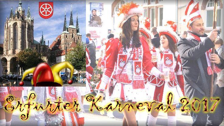 """Erfurter Karneval 2017 - Der Festumzug am 26. Februar 2017 – Reportage - Nach dem Fanfarenorchester, wie immer an der Spitze des Zuges, allen Festwagen voran der Karnevalsverein """"OB-Büro Erfurt e. V."""" Das Wetter war gut, wie geschaffen für unseren Schön-Wetter-OB, der eifrig Rosen verteilte… #Erfurt #Karneval #Fasching #Fastnacht #Fassenacht #Festumzug #OB_Erfurt #Landeshauptstadt"""