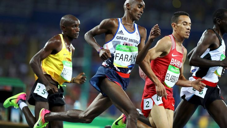 mens 10,000 winner in rio - Mo Farah Great Britain