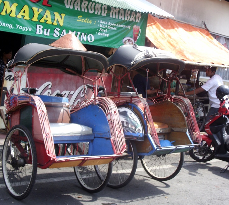#becak #Jogjakarta #Indonesia