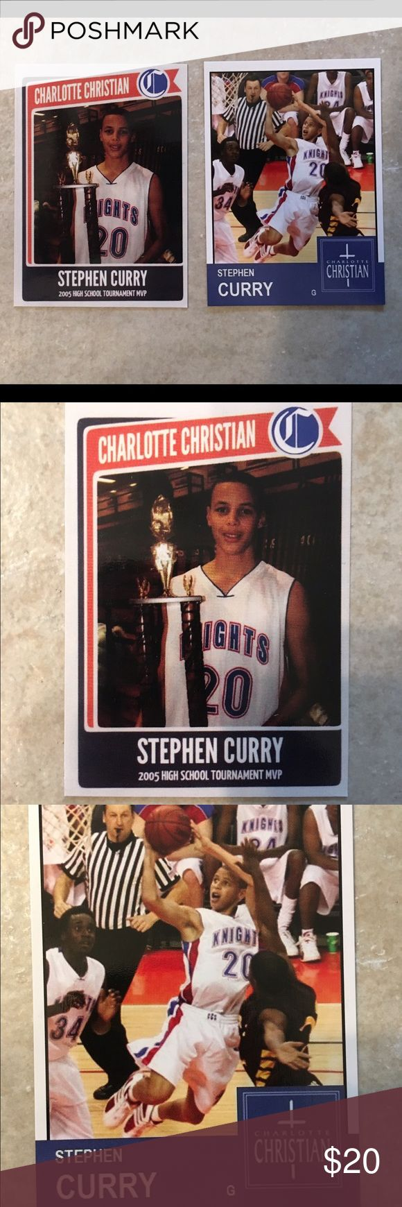 2 vintage Stephen Curry high school cards Great for the collector Accessories
