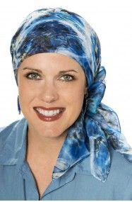 šifonu šátky na hlavu - čtvercový šátek u žen s vypadáváním vlasů nebo rakovina