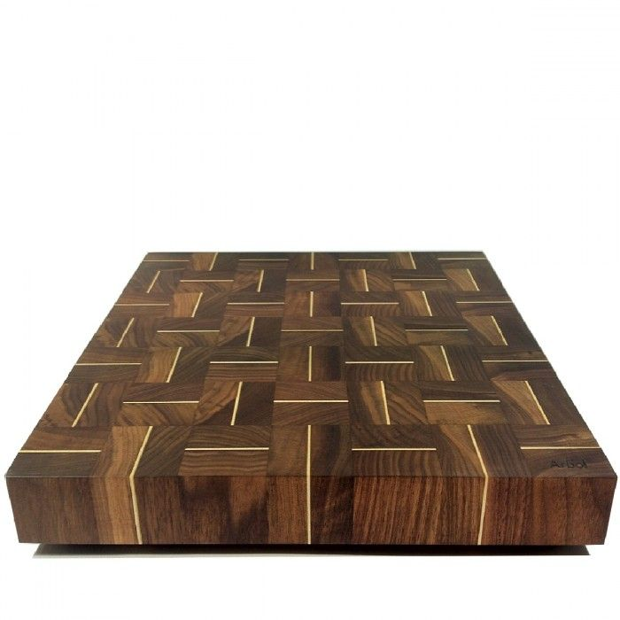 Arbol 16 x 16 in. walnut and maple end-grain cutting board - Artisans