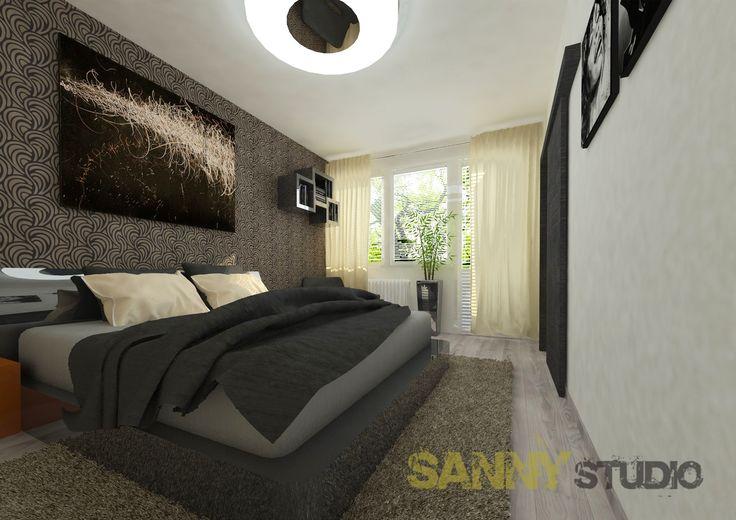 Návrh interiéru spálne pre mladého muža
