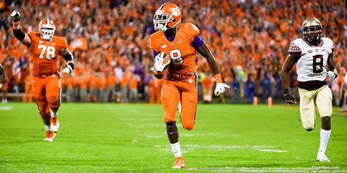 The Clemson football team (10-0, 7-0 ACC) is ranked the #1 overall seed again in the College Football Top 25 rankings released by the College Football Playoff committee on Tuesday night on ESPN. The