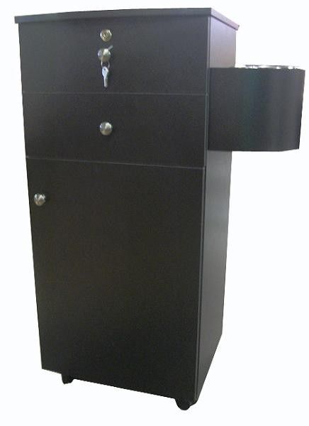 Two Drawers Mobile Styling Station Pl921 Black Pearwood