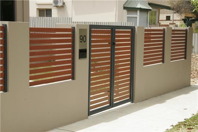 70 Minimalist House Fence Designs Wood And Iron Rumah