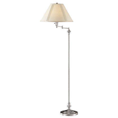 Save $ 36.1 order now Cal Lighting BO-314-BS Transitional Swing Arm Floor Lamp,