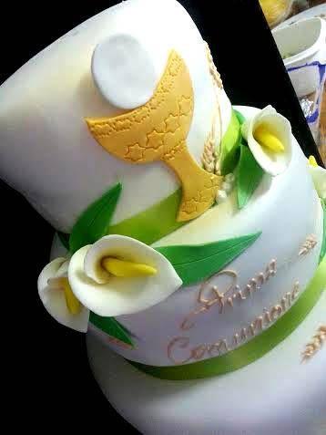 prima comunione #festa torta della pasticceria La Mimosa di http://www.simocakedesigner.it