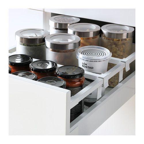 METOD / MAXIMERA Sz stj 2fr/4śr szu - Ringhult połysk biały, biały, 40x60 cm - IKEA