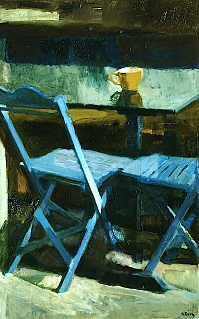 The blue chairs II, 1976 Panayiotis Tetsis