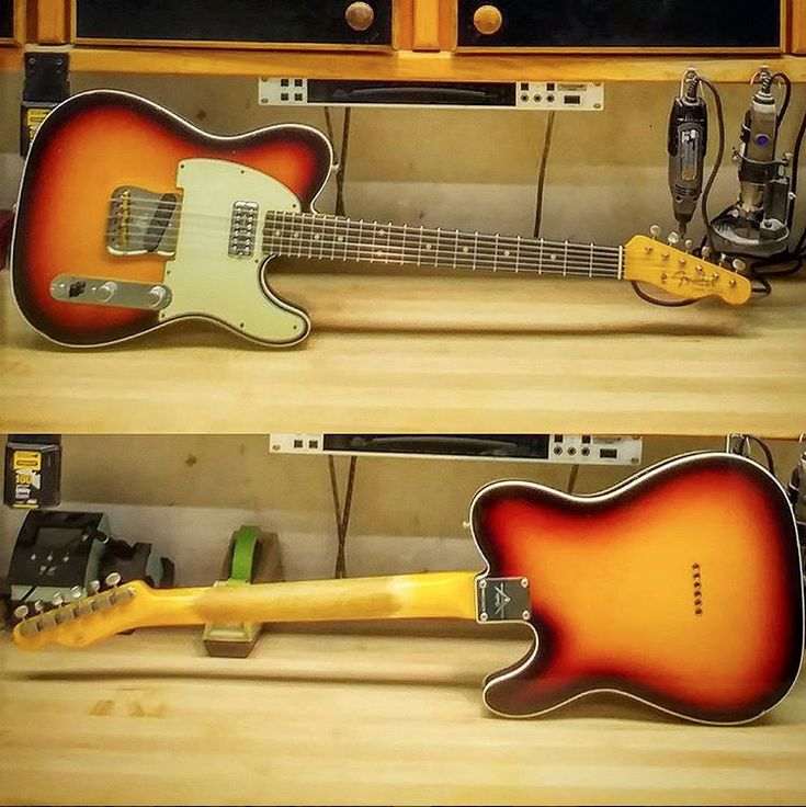Check out this '62 #Telecaster Custom Relic in 3 Tone #Sunburst with a TV Jones Classic pickup in the neck, and a Josefina Campos Handwound Broadcaster pickup in the bridge from Jason Smith at the #fendercustomshop