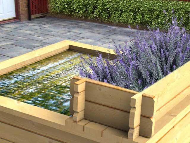 6ft Long Cascade Planter With Water Blade  #raisedpond #fishpond #koi #goldfish #patio #waterfeature #fountain  #watergarden #gardening #landscapedesign #landscaping #gardendesign #aquascaping #pool #pond