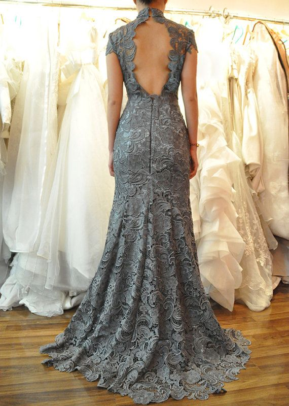 Custom Cap Sleeves Mermaid Sweetheart Neckline Lace Wedding Dress/Bridesmaids Dress/Prom Dress K086