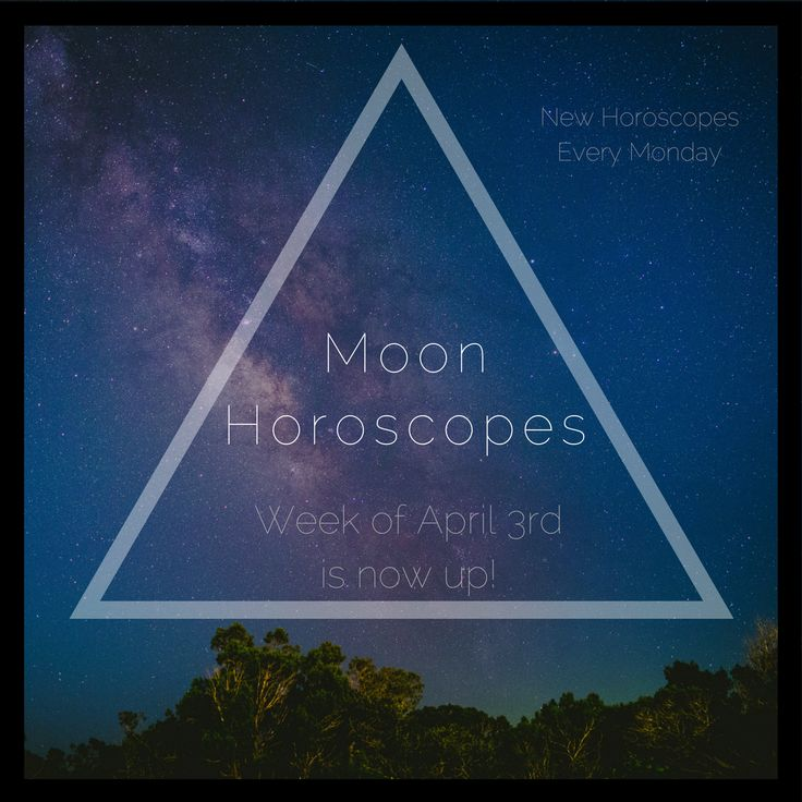 Weekly Moon Horoscopes - tarot based insight for your week by Tieara Myers. Check out this week's astrology at the link.