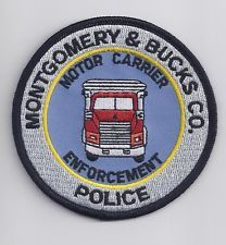 Montgomery and Bucks County Pennsylvania Police Motor Carrier Enforcement Patch