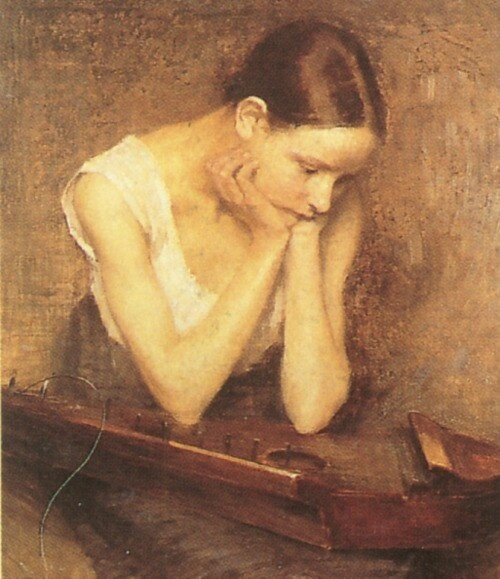 The Broken String'   by Helene Schjerfbeck (1862-1946)
