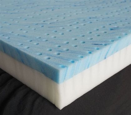"""http://www.idecz.com/category/Xl-Twin-Memory-Foam-Topper/ Ultimate Twin XL Dorm Bedding Topper - 3"""" Gel-Infused Memory Foam with Support Base Dorm Essentials"""