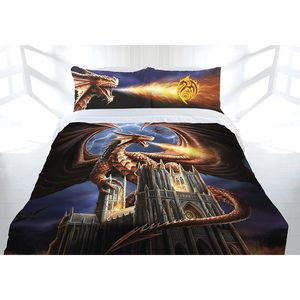 Anne Stokes — Dragon's Fury Quilt Cover, Queen-Sized. Comes with two pillowcases!
