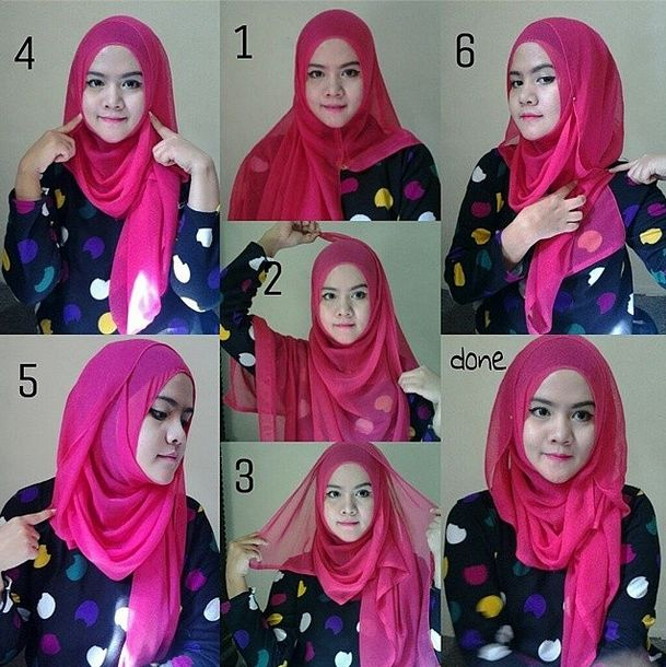 Tight Hijab with folds