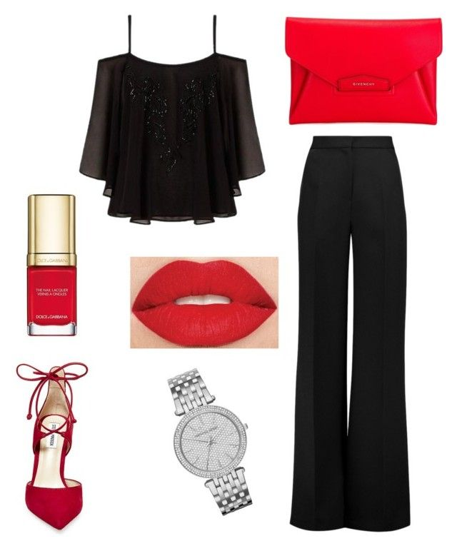 """Untitled #545"" by sara-scagnoli on Polyvore featuring Lipsy, Roksanda, Steve Madden, Givenchy, Dolce&Gabbana, Smashbox and Michael Kors"