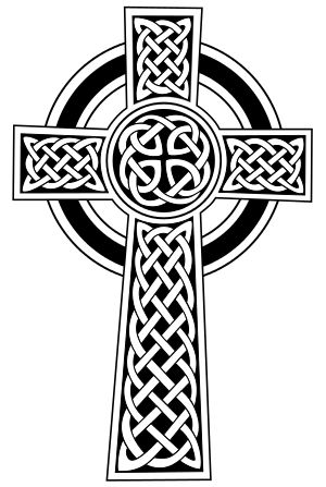 The Celtic cross, a pre-Christian symbol which...