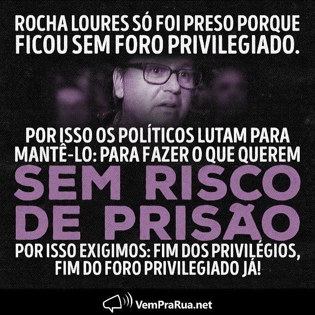 """1,819 curtidas, 38 comentários - Vem Pra Rua Brasil (@vemprarua_br) no Instagram: """"Sem privilégios, eles são presos. Quando são presos, eles delatam, e quando delatam, o grande…"""""""