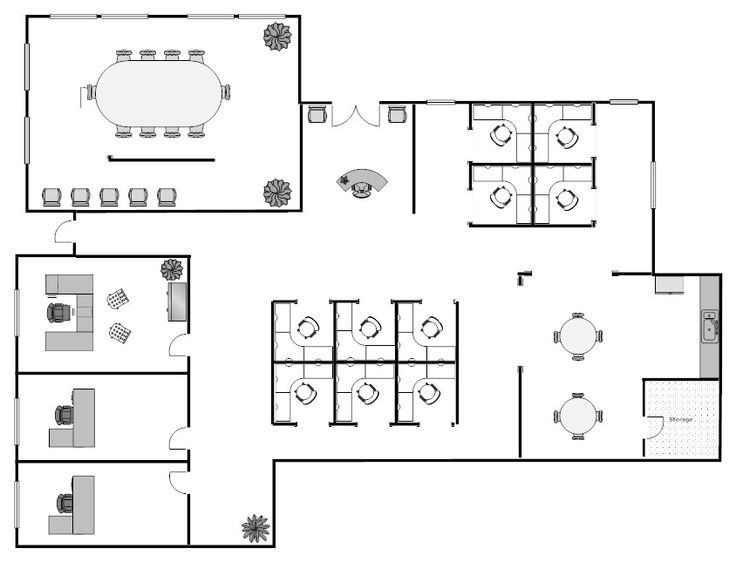 Training room furniture layout office for Office layout plan design
