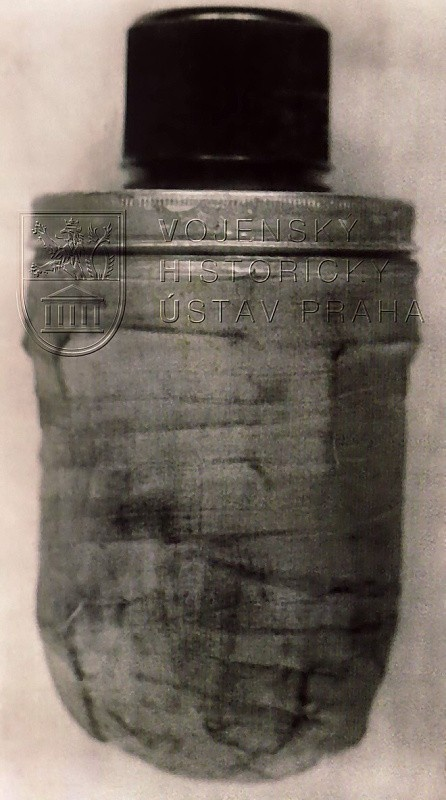Spare bomb of Jan Kubiš from his briefcase, abandoned at the place of assassination attempt.
