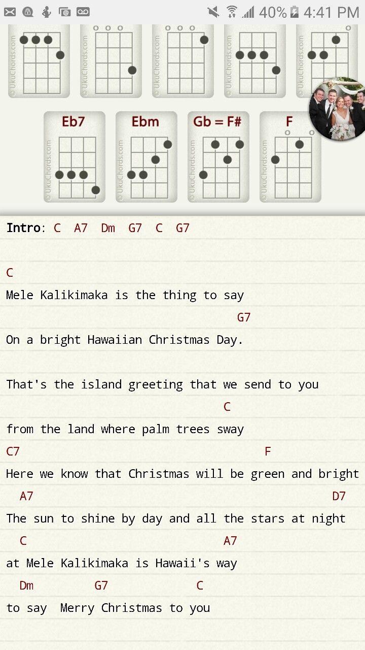 mele kalikimaka (With images)   Ukulele music, Ukulele songs, Ukulele chords